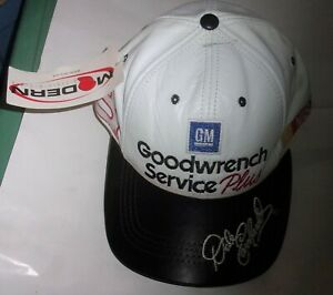 Dale Earnhardt Sr Vintage 1990's Leather GM Goodwrench Service Plus Hat Cap NWT