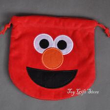 Sesame Street Elmo Birthday Party Favor Candy Drawstring Plush Bag