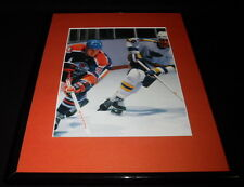 Wayne Gretzky Framed 11x14 Photo Display Edmonton Oilers vs Blues