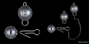 5 pack Cheburashka Cheb ball sinkers weights Jig Head 3g / 5g / 7g Soft Lures UK