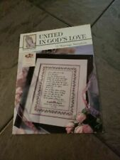 United in God's Love by Praying Hands 11 Marriage Samplers Cross Stitch