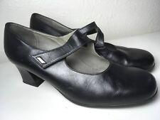 Beautifeel Black Leather Mary Jane Heeled Shoes US Size 9 - 9.5 EU 40