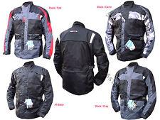 Mens,Motorcycle Motorbike Waterproof  CE Approved Cordura Textile Jackets winter