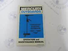 90-86204 R1088 Mercury Thruster Outboard Operation & Maintenance Manual RC DM TM