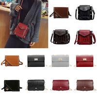 Rivet Stone Handbag Women Messenger PU Shoulder Bag Purse Crossbody Satchel Tote