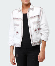 ISABEL MARANT Abril White Denim Embroidered Jacket 36 S 100% Cotton $455
