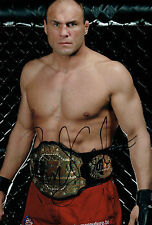 Randy COUTURE Signed 12x8 Autograph Photo AFTAL COA The Natural Captain America