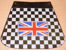 "Vintage Vespa and Lambretta scooter mudflap 8"" X 9"" Union Jack flag logo 131/UK"