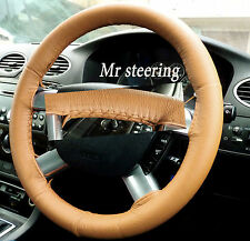 FITS FORD MONDEO MK3 REAL BEIGE ITALIAN LEATHER STEERING WHEEL COVER