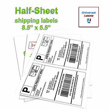 "1000 Paypal Click-N-Ship Shipping labels (8.5""x 5.5"") 2 Labels Per Sheet - USA"