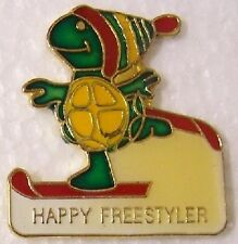 Hat Lapel Pin sports Happy Freestyle Snow Boarder frog NEW