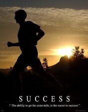 Running Motivational Poster Art Print Jogging Boston New York Marathon  MVP360