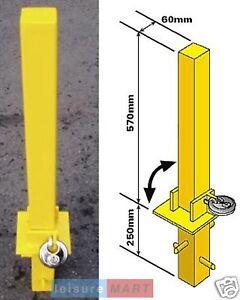 Security parking post fold down heavy duty, Parking Bollard Maypole MP9739