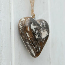 Fair Trade Small Mango Wood Wooden Heart Hanging - Eco Friendly, Sustainable