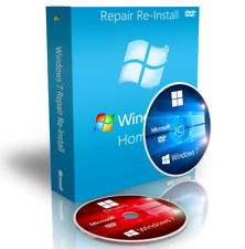 Acer Windows 7 Home Premium Reinstall Recovery CD DVD Boot Disk + Drivers 64