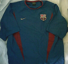 a93fe3918 Nike FC Barcelona Training Practice Jersey Top Blue L barca soccer spain