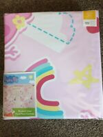 "Peppa Pig Pink Rainbow Blackout Curtains Lined Pencil Pleat 66"" X 54"" Dunelm New"
