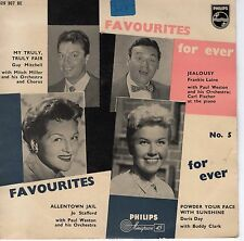 7inch FAVOURITES FOR EVER doris day JO STAFFORD guy mitchell EP DUTCH EX
