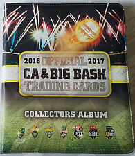 2016-17 tap n play cricket trading cards BBL set + folder + bonus album card