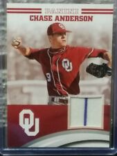 CHASE ANDERSON 2016 PANINI OKLAHOMA COLLEGIATE COLLECTION SP PATCH W/ PIN STRIPE