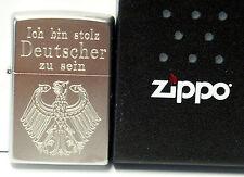 ICH BIN STOLZ DEUTSCHER ZU SEIN hauseigene Gravur 12) auf Zippo Original 1022205