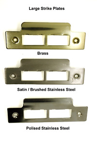 Strike Plate for Mortice Lock Brassed/ Brushed/ Satin/ Polished Stainless Steel