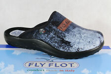 Fly Flot Men's Slippers House Shoe Clogs Blue Jeans Look New