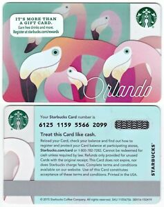 2015 Starbucks Coffee Orlando Florida City Series Gift Card Limited Edition New