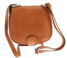 borsa da donna pochette piccola con tracolla pelle made in italy cuoio 1020