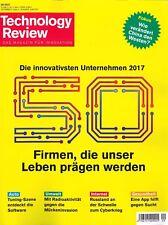 Technology Review, September 9/2017: Firmen, die unser Leben prägen  + wie neu +