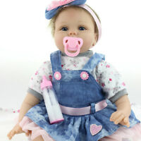 Reborn Baby Doll Handmade Real Looking Newborn Vinyl Silicone Reborn Doll 16 Jf