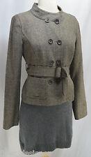 Ann Taylor LOFT blazer belted jacket blazer tweed wool mandarin coat SZ 2 S new