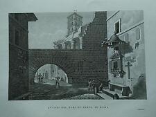 1845 Zuccagni-Orlandini Avanzi del Foro di Nerva in Roma