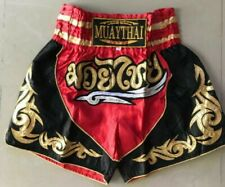 Muay Thai Fight Short Mma Grappling Kick Boxing Trunk Martial Art Red Size M