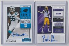 2018 Contenders Donte Jackson Rookie Ticket & College Ticket 2-Card RC Auto Lot