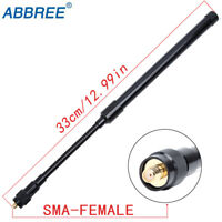ABBREE Gooseneck SMA-Female 144/430MHz Dual Band Tactical Antenna Two Way Radio