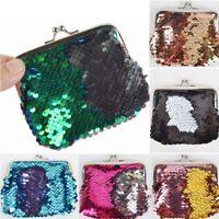 Girls Mini Sequins Buckle Change Coin Purse Clutch Handy Wallet Key Bag Pouch-
