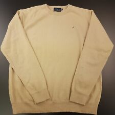 Daniel Hechter Mens Jumper MEDIUM Beige Wool Acrylic Pullover Sweater Knit Crew