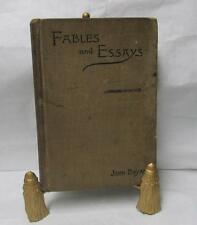 Book 1895 John Bryan Fables and Essays Vol.1 New York The Arts and Letters Co.
