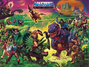 "He-Man Masters of the Universe ""Preternia"" POSTER Rare MOTU Large"