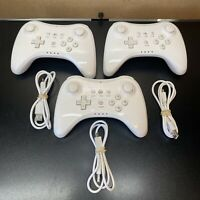 (3)Wireless Bluetooth Wii U Pro Remote Gamepad for Nintendo Wii U Controller+Cab