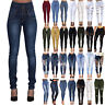 Women High Waist Ripped Stretch Skinny Jeans Denim Jegging Pants Pencil Trousers