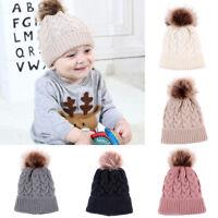 Cute Girl&Boy Baby Winter Warm Chunky Crochet Knit Hat Toddler Kids Beanie Cap