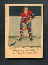 1951 Parkhurst Hockey #12 Floyd Busher Curry Montreal Canadiens