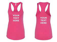 Ladies Tank Top Custom Personalized Shirts Own Text Business Name Front & Back