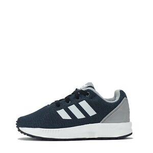 adidas Originals ZX Flux Infants Trainers Shoes Black UK 8.5 K