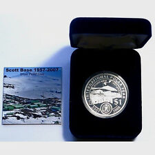 2007 ANTARCTICA SCOTT BASE SILVER PROOF COIN!!! LOW MINTAGE