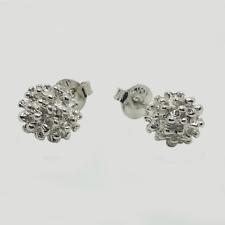 Fireball Ear Stud for Women and Girls, Classic White Gold Shamballa Earrings