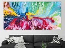 WEISE XXL Acryl BILD Abstrakt Gemälde Leinwand 75 x 150 auf Keilrahmen Nr. 57/20