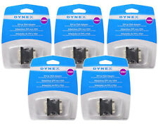 5-Pack NEW Dynex DVI-A Male to VGA 15-pin Female Video Adapter Converter Monitor